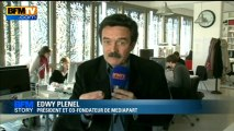 BFM Story: la réaction d'Edwy Plenel aux aveux de Jérôme Cahuzac - 02/04