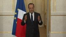 """Cahuzac : Hollande dénonce """"un outrage à la République"""""""