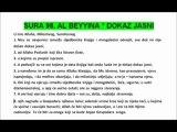 SURA 98. AL BEYYINA - DOKAZ JASNI - HOLY QUR'AN IN BOSNIAN Bosnian Translation - Traduction Bosnie