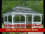 [SPECIAL DISCOUNT] 14' x 20' Vinyl Rectangular Double Roof Gazebo