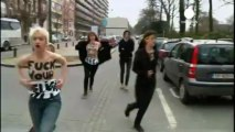 Femen targets Islam in bare-breast Brussels protest