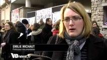 ITW Emilie michaut - Après les parents, les profs manifestent au collège d'Argenteuil
