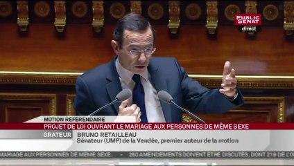 Mariage Pour Tous: intervention de B. Retailleau au Sénat