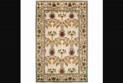 Hand Knotted Aagtdorp Ivory Wool Rug (8&apos X 11&apos)
