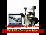 [BEST BUY] AmScope 40X-1500X Inverted Phase Contrast Fluorescence Microscope + 1.4MP B&W CCD Fluorescence Camera