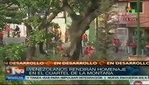 Todo listo en Cuartel de la Montaña para homenaje a Chávez