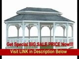[BEST PRICE] 14' >14' x 20' Vinyl Oval Double Roof Gazebo14' x 20' Vinyl Oval Double Roof Gazebo