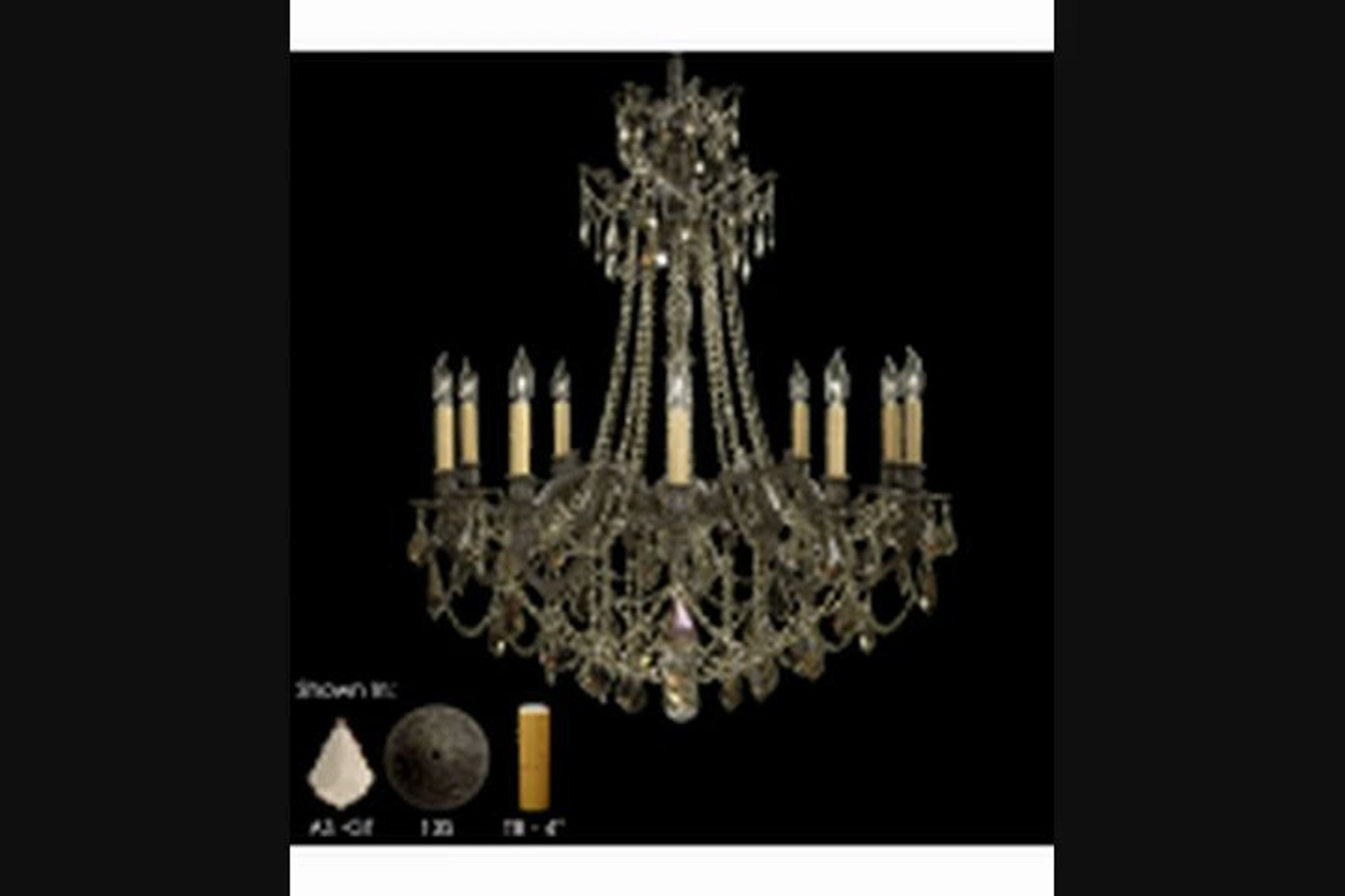American Brass And Crystal Ch9258as07gst Biella 12 Light Single Tier Chandelier In Satin Nickel With