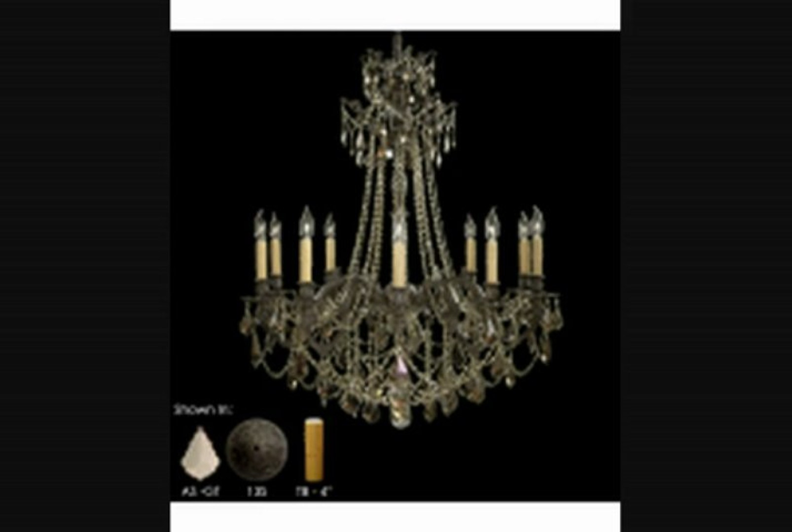 American Brass And Crystal Ch9258as07gtb Biella 12 Light Single Tier Chandelier In Satin Nickel With