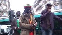 5 ème marche de soutien au Pr Gbagbo: L'indignation de B.P. Logbo, président du NPR, devant le siège du parti socialiste français