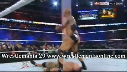 Wrestlemania 29 The Rock Peoples Elbow on Cena video
