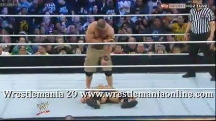 Wrestlemania 29 Cena suckers Rock in video