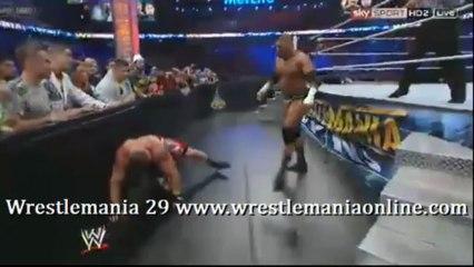 Wrestlemania 29 Lesnar vs Triple H full match video