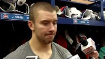 Josh Gorges after Canadiens' 2-1 win over the Boston Bruins April 6, 2013