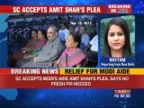 Huge relief for Modi aide Amit Shah