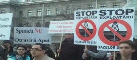Protest impotriva extragerii gazelor cu sist - Bucuresti