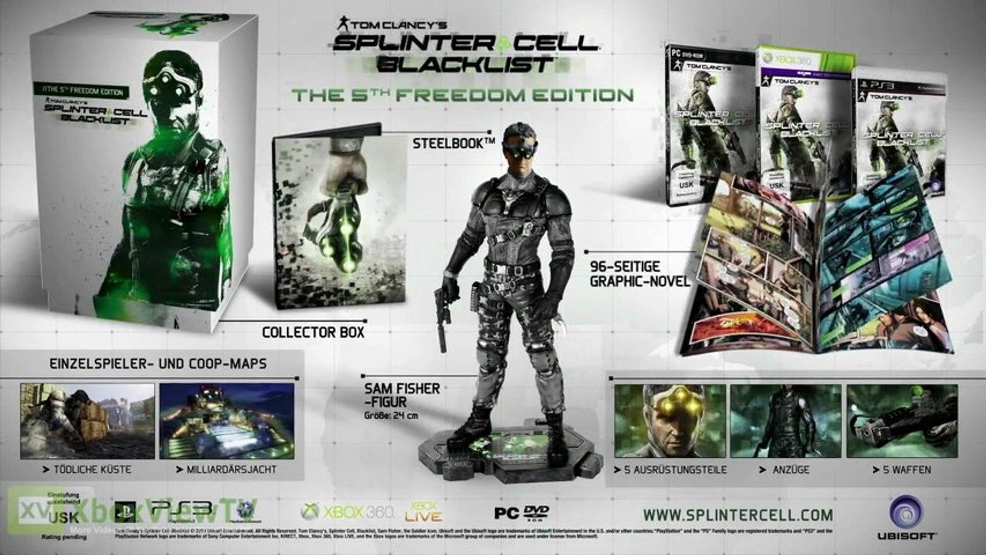 Splinter Cell Blacklist | Unboxing: The Fifth Freedom Collectors Edition (2013) [DE] | HD