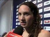 Championnats de France de natation. Camille Muffat après les séries du 400 m