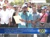 Capriles: Yo no tengo que ir al CNE, yo firmo aquí con Venezuela delante del pueblo venezolano