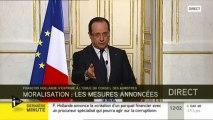 L'intervention de François Hollande en intégralité