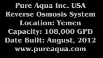 Pure Aqua  Brackish Water Reverse Osmosis Plant Yemen 108,000 GPD