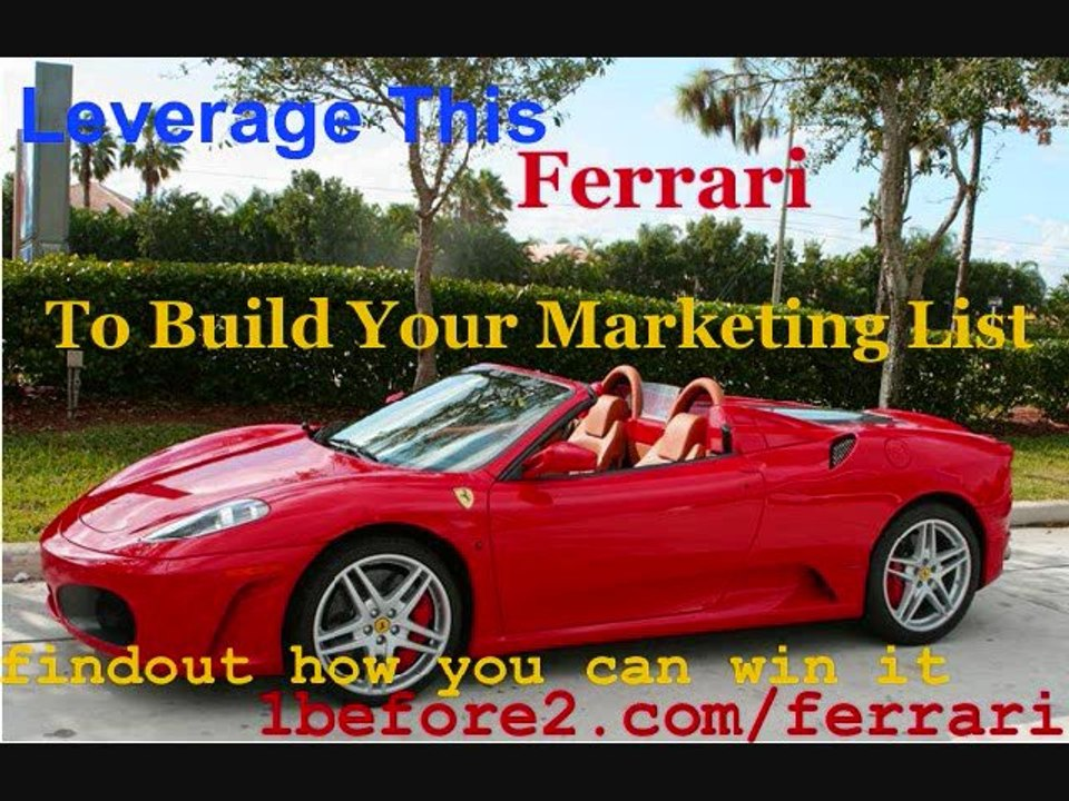 Ferrari Give Away Leverage This Ferrari To Build Your List Ferrari Give Away Video Dailymotion