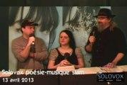 SoloVox poésie musique slam - 5 -  Marjolaine Robichaud - Nathalie Turgeon