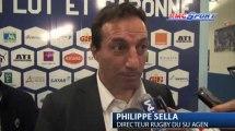 Top 14 / Les réactions de P. Rabadan et P. Sella après Agen - Stade Français - 13/04
