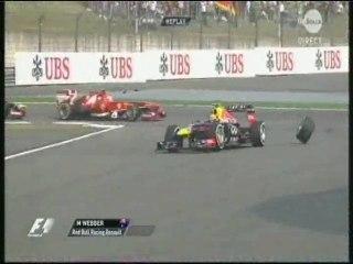 Chine 2013 : Webber perd sa roue arrière