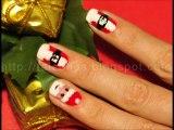 Yılbaşı Noel Baba Manikürü Oje Uygulama Christmas Nails Santra Claus_2