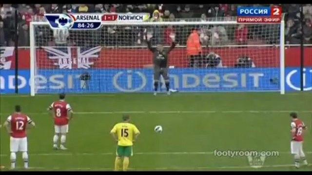 Arsenal 3 : 1 Norwich City Premier League 13.04.13