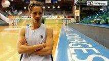 Céline Dumerc avant la finale Bourges Basket - Lattes Montpellier