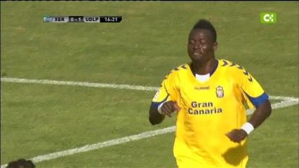 los goles de Macauley Chrisantus al Xerez  - Vídeos de 2012/2013 de la UD Las Palmas