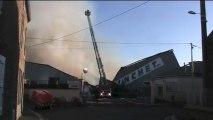 Avranches : incendie de 5000m2 de stockage de bois - Blanchet SA