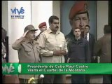 Presidente Raúl Castro rinde honores a Chávez