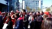 20/04/13 : ASSE-SRFC : départ de la gare de Rennes