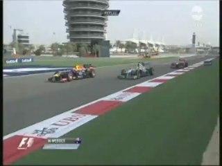 Bahrein 2013 : presque l'accrochage entre Webber et Rosberg