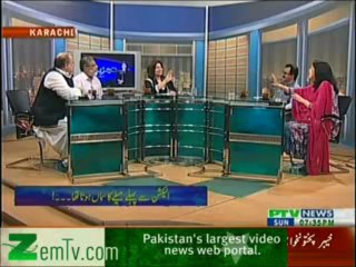 Tajzia Huma Baqai k Sath on PTV News – 21st April 2013