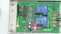 Kit Commande de Moteur Radio Moteur CC 12V Haute Puissance 315/433MHz