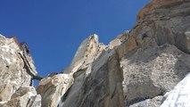 Goulotte Aiguille du Midi Truc et Jottnar Chamonix Mont-Blanc massif