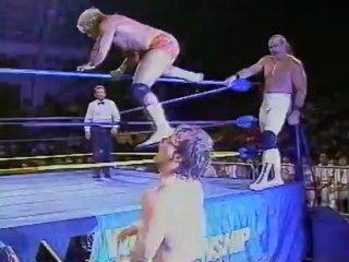 43. 92-06-16 Brian Pillman & Jushin Liger vs. Chris Benoit & Beef Wellington (Clash XIX)