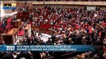 Mariage homo voté: Claude Bartolone annonce les résultats du scrutin