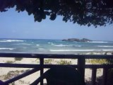 Beautiful View of Ocean, Beach and Islands from Big Lee's Beach Bar in Puerto Plata, Dominican Republic