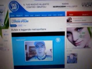 Io a Deejay Tv alla trasmissione Lorem Ipsum 5