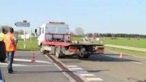 Accident entre une moto et une voiture à Cliron