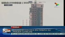 Ecuador lanzó su primer satélite al espacio