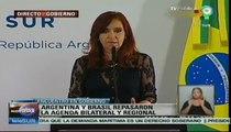 Fernández recibió a Dilma Rousseff en Argentina