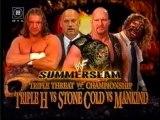 Triple H vs Stone Cold vs Mankind - SummerSlam 1999 (German)