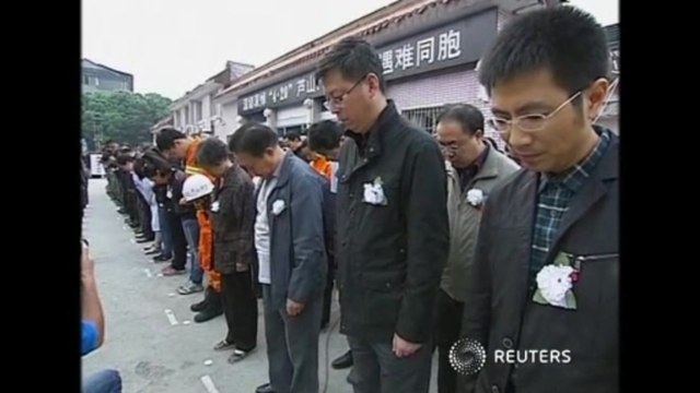Moment of silence observed for quake victims