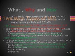 Tutorials 1 : Learn Search Engine Optimization in Pakistan